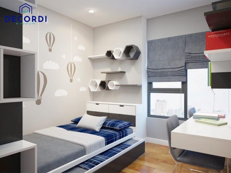 Mẫu giường ngủ kéo 2 tầng thường được ưu tiên bố trí trong phòng ngủ nhỏ