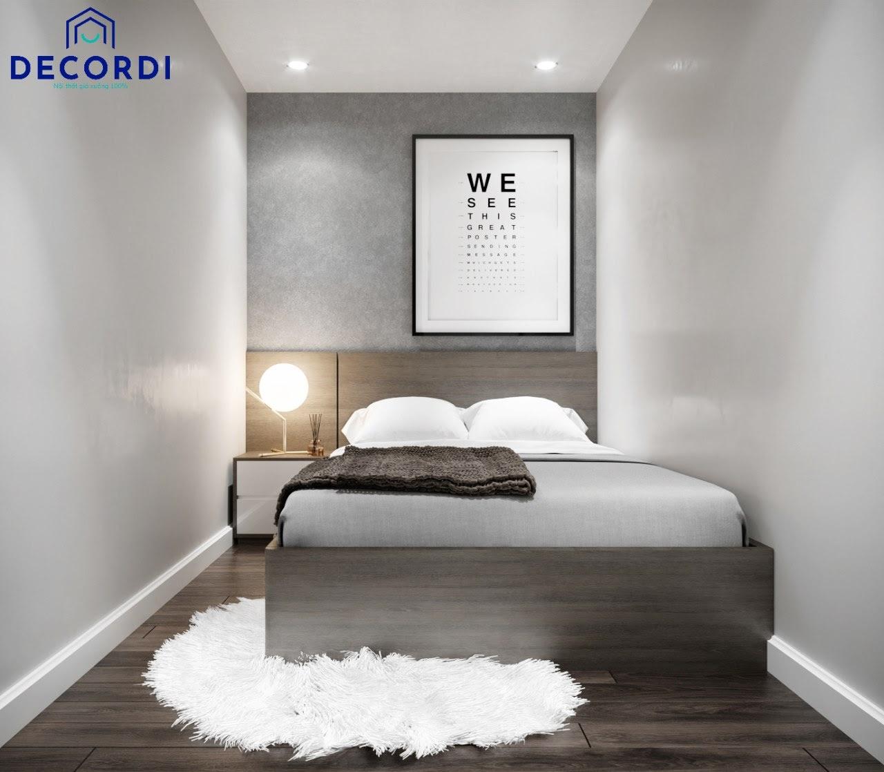 Mẫu phòng ngủ nhỏ đơn giản được lược bỏ nhiều món nội thất