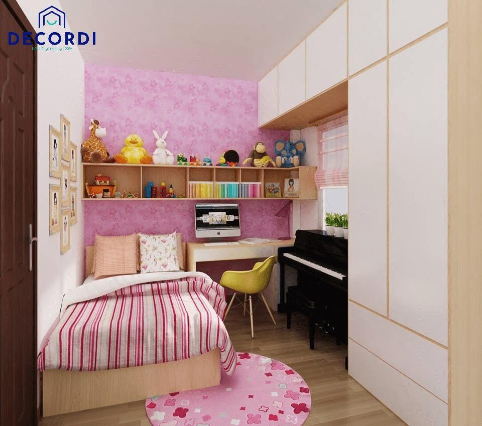 Nội thất phòng ngủ tiện nghi được tận dụng tối đa diện tích để bố trí nội thất phù hợp