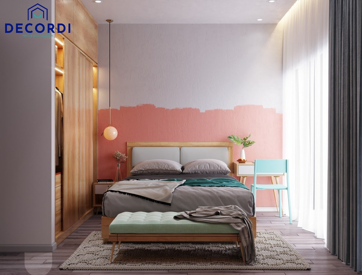 Phòng ngủ với nội thất đơn giản nhưng lại rất sang trọng nhờ cách bố trí và phối màu phù hợp