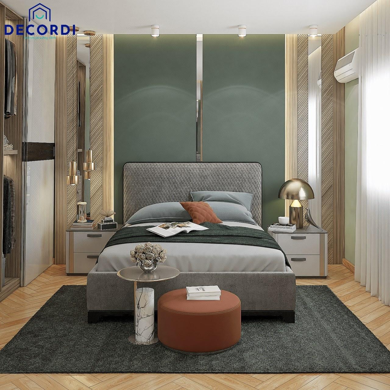 Thiết kế nội thất phòng ngủ 8m2 phong cách luxury sang trọng
