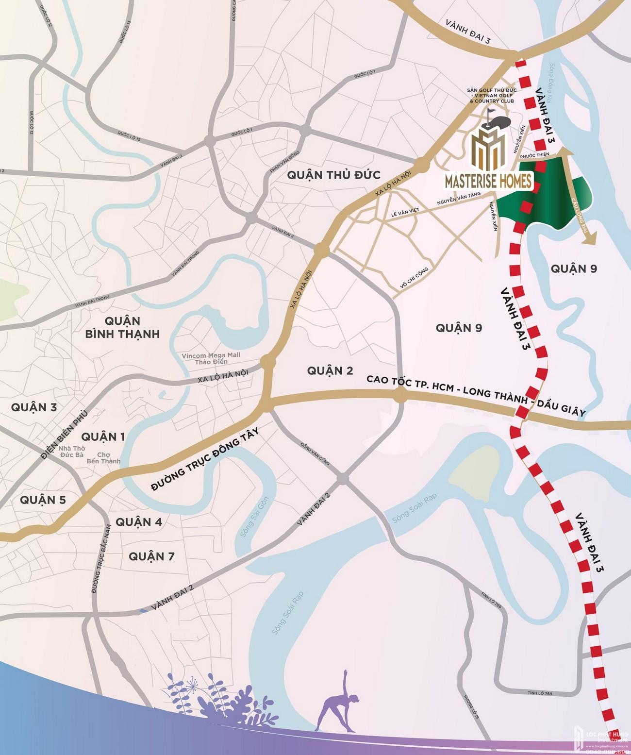 Vị trí địa chỉ dự án căn hộ Masteri Centre Point quận 9